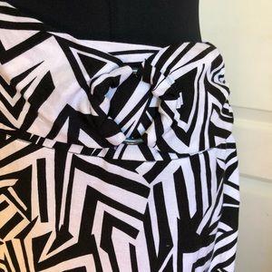 Ashley Stewart Skirts - Ashley Stewart Linen Zebra Maxi A-line Skirt 20W